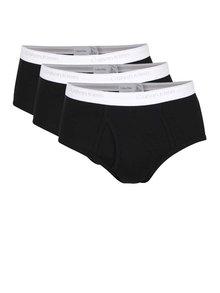 Sada tří slipů v černé barvě Calvin Klein