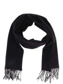 Čierny vlnený šál so strapcami Jack & Jones Prm