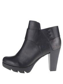 Černé dámské kotníkové boty na podpatku bugatti Elenor Evo
