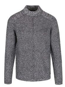 Sivý melírovaný sveter s nízkym rolákom ONLY & SONS Pablo