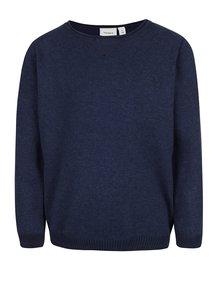 Tmavomodrý chlapčenský sveter s rebrovanými lemami name it Seras