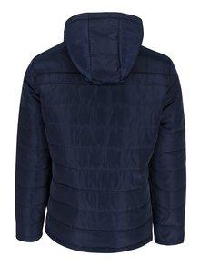 Tmavomodrá prešívaná bunda s kapucňou ONLY & SONS Jonnie