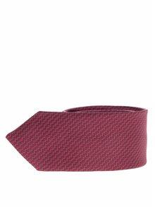 Červeno-vínová klučičí kravata s jemným prošívaným vzorem name it Pisp