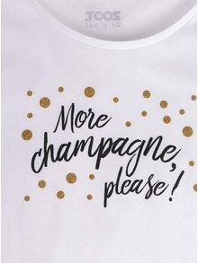 Tricou alb pentru femei ZOOT Original More champagne