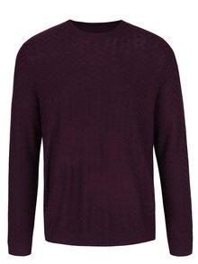 Fialový ľahký sveter Burton Menswear London
