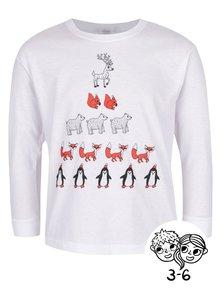 Biele detské unisex tričko s potlačou ZOOT Kids Počítanie