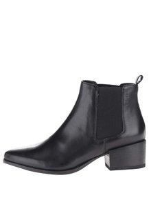 Čierne kožené chelsea topánky Marja Vagabond