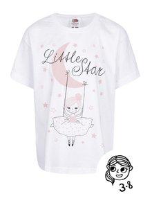 Bílé holčičí tričko s potiskem ZOOT Kids Little star