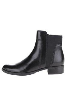 Černé dámské kotníkové boty s gumovou vsadkou Geox Mendi