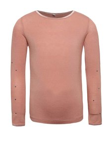 Růžové holčičí tričko s dlouhým rukávem name it Pelissimo
