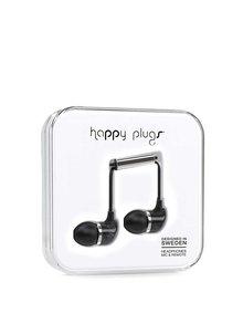Căști in-ear negre marmură Happy Plugs