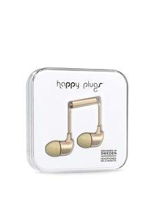 Matná in-ear saint sluchátka ve zlaté barvě Happy Plugs