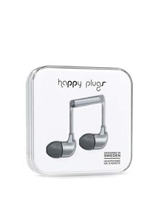 Sivé in-ear saint slúchadlá Happy Plugs