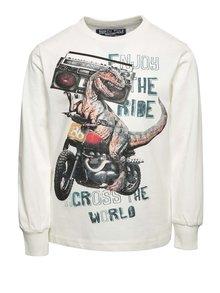 Krémové chlapčenské tričko s potlačou dinosaura North Pole Kids