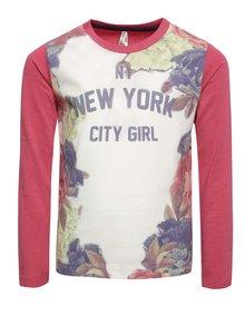 Bluză roz & crem North Pole Kids pentru fete cu print