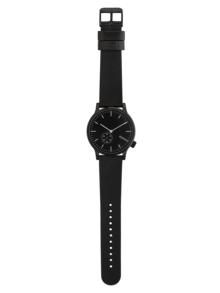 Ceas unisex negru cu curea din piele - Komono Winston Subs