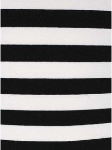 Krémovo-černé pruhované tričko s dlouhým rukávem Haily´s Tina