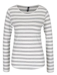 Bluză gri cu crem Haily´s Tina în dungi