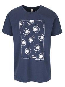 Tmavě modré pánské triko s krátkým rukávem Bez Jablka Piva