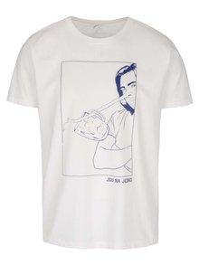 Krémové pánské triko s krátkým rukávem Bez Jablka Jdu na jedno