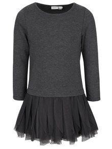 Tmavě šedé holčičí šaty name it Wemilla