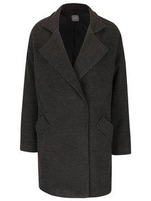 Palton gri ZOOT cu guler cu revere și buzunare cu clapă