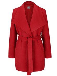 Palton roșu ZOOT cu cordon și guler cu revere