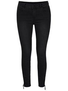 Černé džíny s ozdobnými zipy VILA Criss