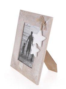 Světle hnědý dřevěný fotorámeček Sass & Belle Ashley Farmhouse Stars