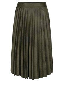 Olivově zelená plisovaná sukně Alchymi