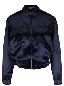 Jachetă albastră Dorothy Perkins cu aspect satinat