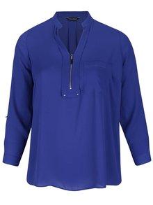 Bluză cu fermoar Dorothy Perkins Curve albastră