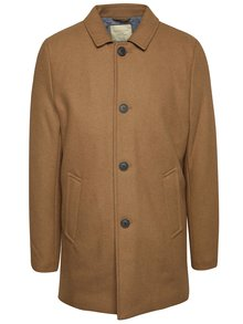 Palton maro camel Selected Homme New Mash