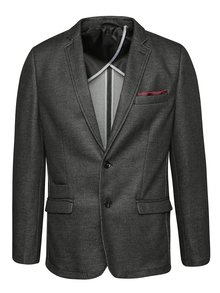 Tmavě šedé sako s jemným vzorováním Selected Homme Donetim