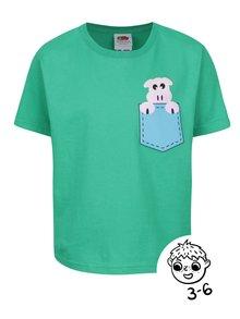 Zelené chlapčenské tričko s potlačou ZOOT Kids Prasiatko