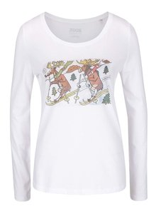Biele dámske tričko s dlhým rukávom ZOOT Originál Jos Lada Sobíci