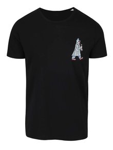 Černé pánské triko ZOOT Originál Jos. Lada Švejk s dýmkou