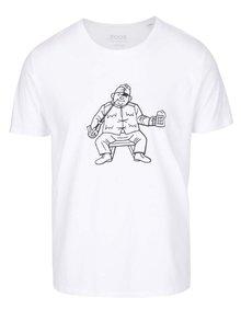 Biele pánske tričko ZOOT Originál Jos. Lada Švejk