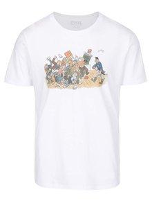 Biele pánske tričko ZOOT Originál Jos. Lada Rvačka