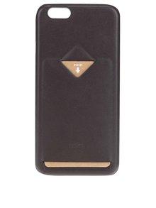 Tmavě hnědý kožený kryt pro iPhone 6/6s s přihrádkou na platební kartu Bellroy