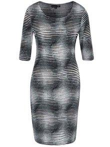 Šedé vzorované šaty s 3/4 rukávy Smashed Lemon