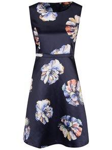 Tmavomodré šaty s kvetmi Smashed Lemon