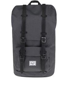 Tmavě šedý batoh s černými popruhy Herschel Little America  25 l