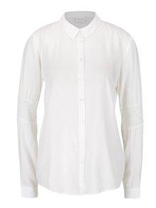 Krémová košeľa s detailmi na rukávoch VILA Smil