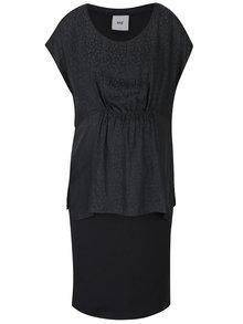 Šedo-černé těhotenské/kojicí šaty Mama.licious Kayla