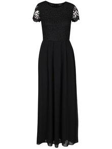 Rochie lungă neagră AX Paris cu detaliu din dantelă
