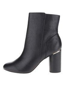 Čierne členkové topánky na podpätku Miss Selfridge