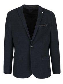 Tmavomodré neformálne sako s jemným vzorom Selected Homme Done Dot