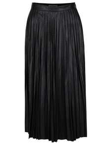 Čierna plisová koženková sukňa Darling Blair