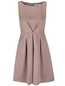 Béžovo-hnědé strukturované šaty Darling Rosalind